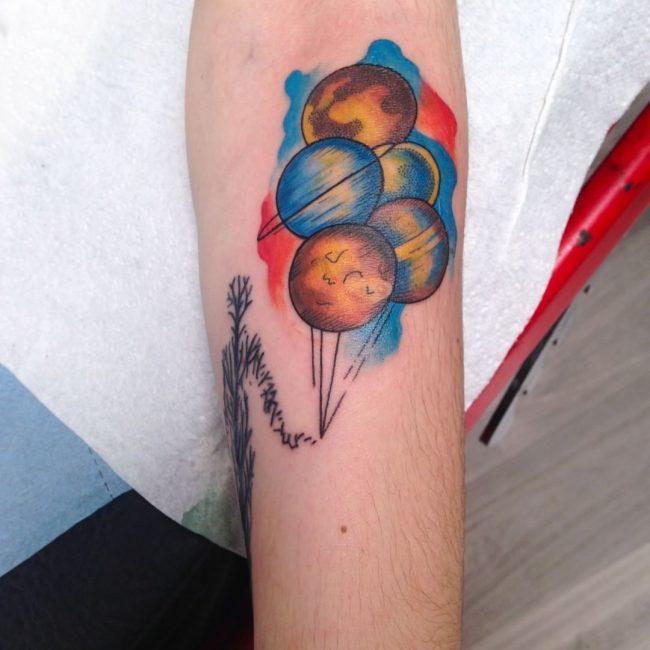 Solar System Tattoo 48