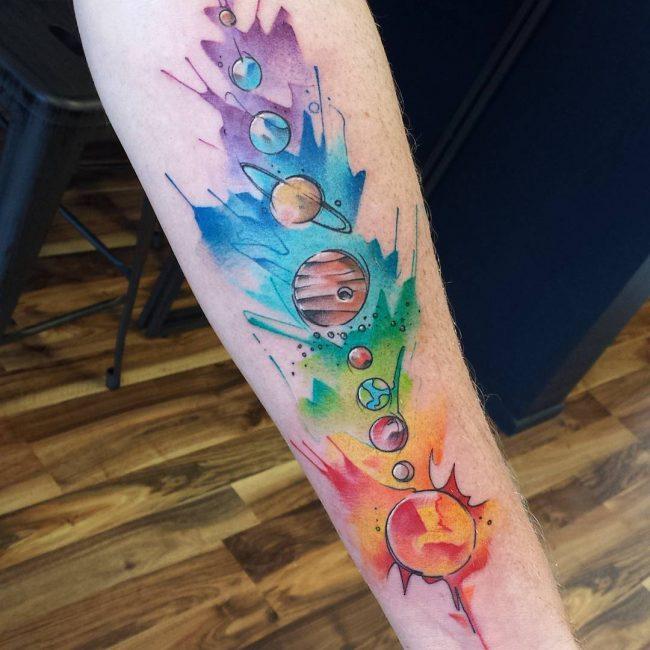 Solar System Tattoo 50