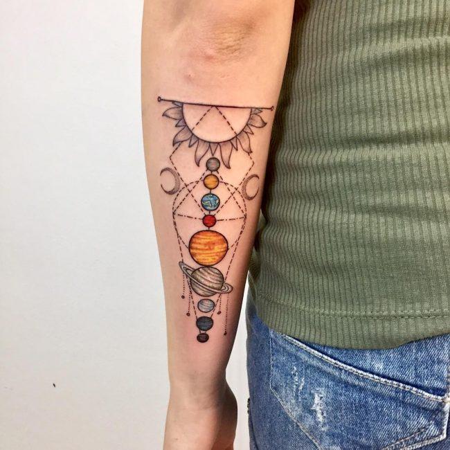 Solar System Tattoo 52