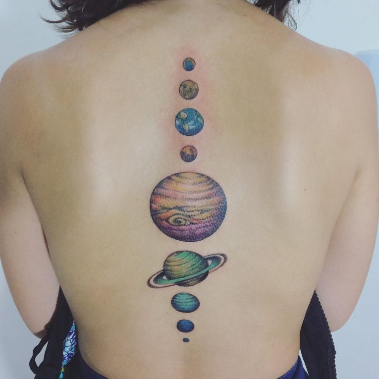 solar system tattoo - photo #26