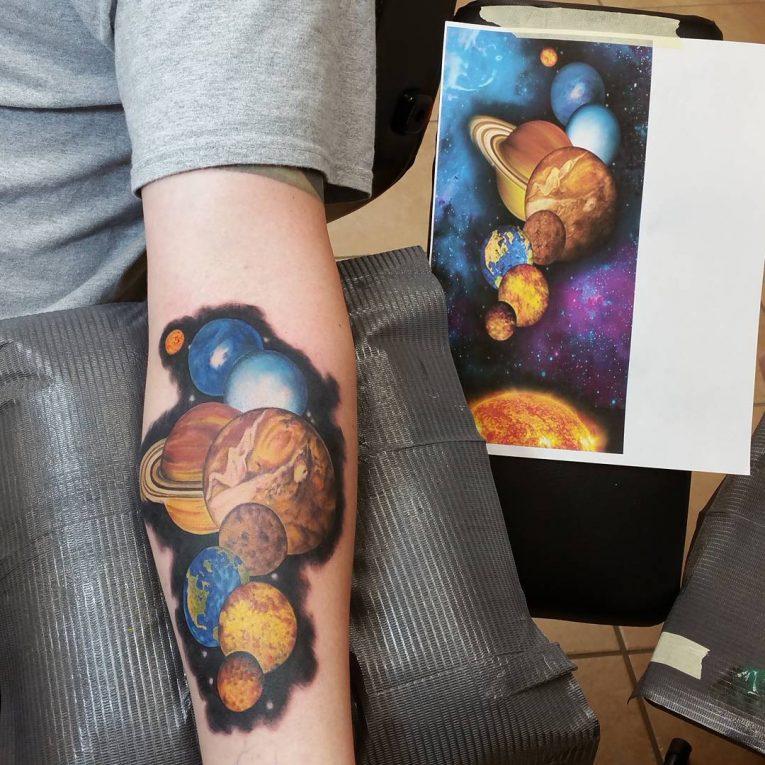 Solar System Tattoo 62
