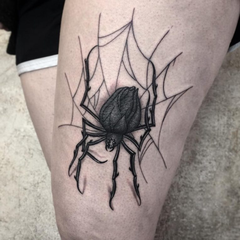 Spider Web Tattoo 100