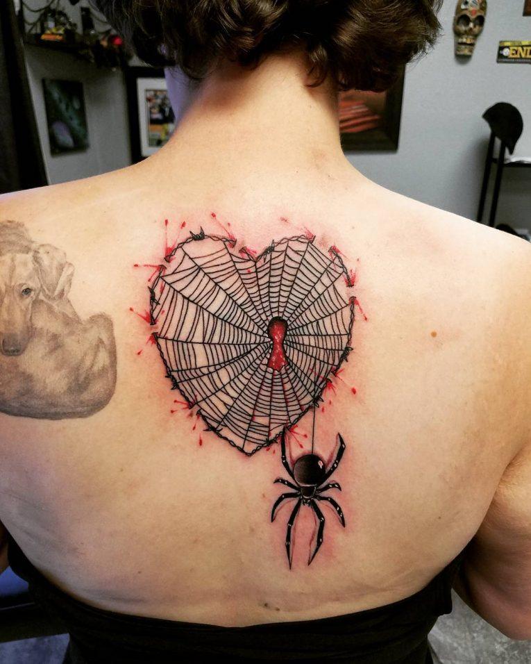 Spider Web Tattoo 104