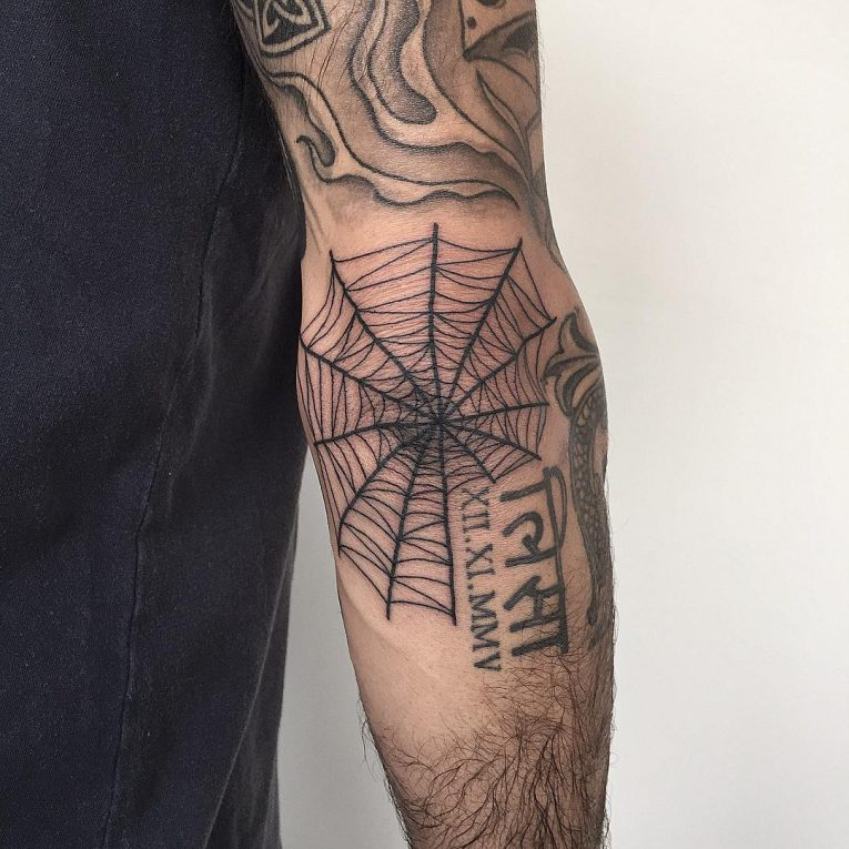 Spider Web Tattoo 106
