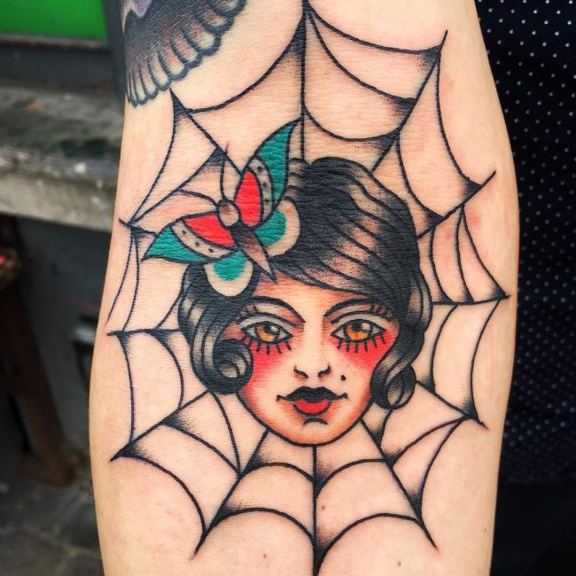 Spider Web Tattoo 88