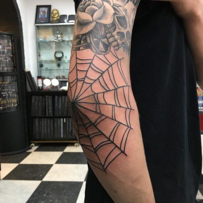 Spider Web Tattoo 90
