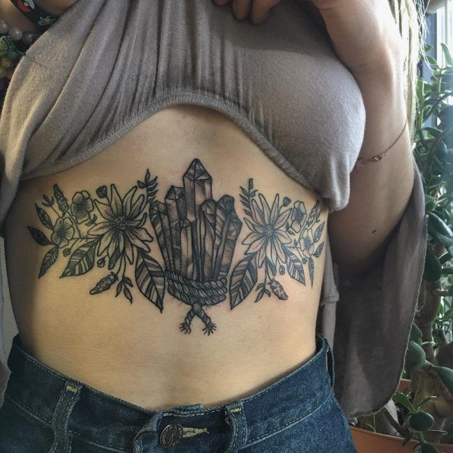 Sternum Tattoo 61