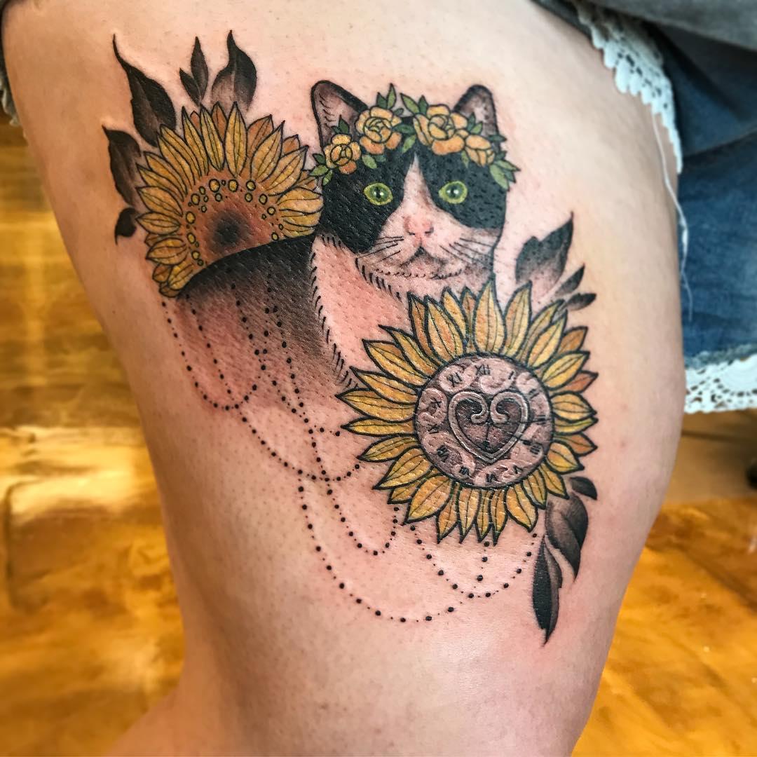 sunflower tattoo images - HD1080×1080