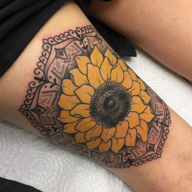 Sunflower Tattoo 64