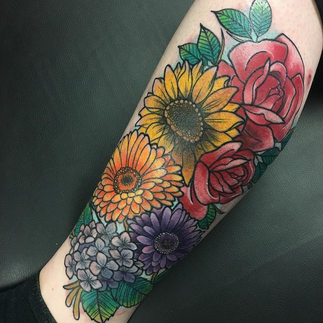 Sunflower Tattoo 69