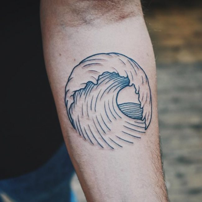 Wave Tattoo 71