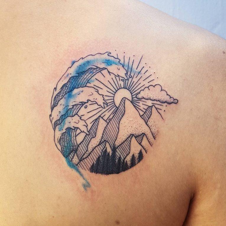 Wave Tattoo 90