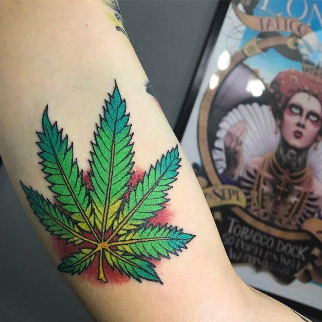 Weed Tattoo 46