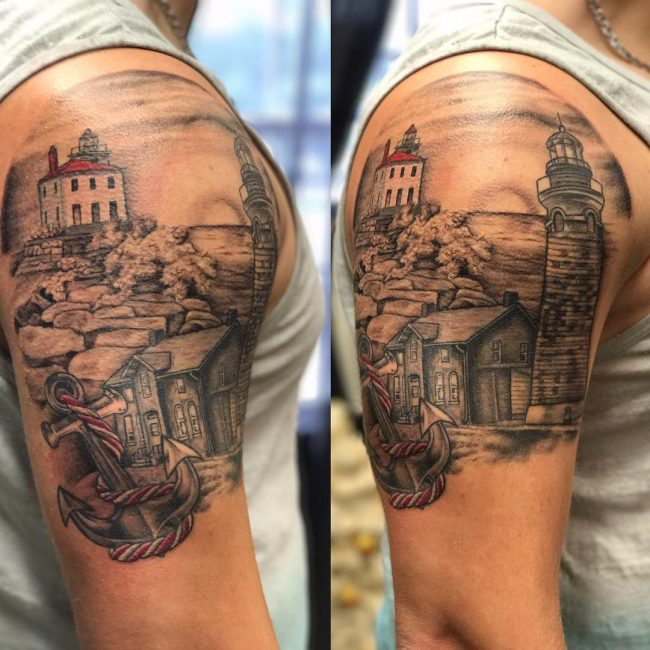 Lighthouse Tattoo 10