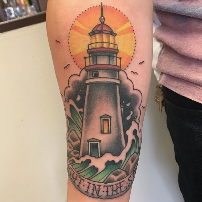 Lighthouse Tattoo 105