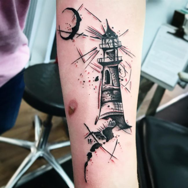 Lighthouse Tattoo 107