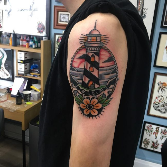Lighthouse Tattoo 110
