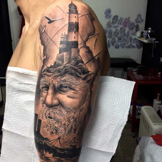 Lighthouse Tattoo 112