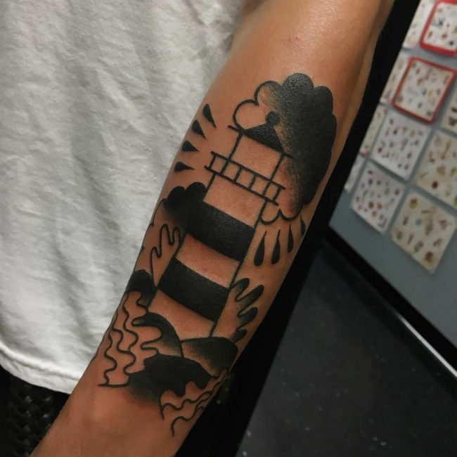 Lighthouse Tattoo 117