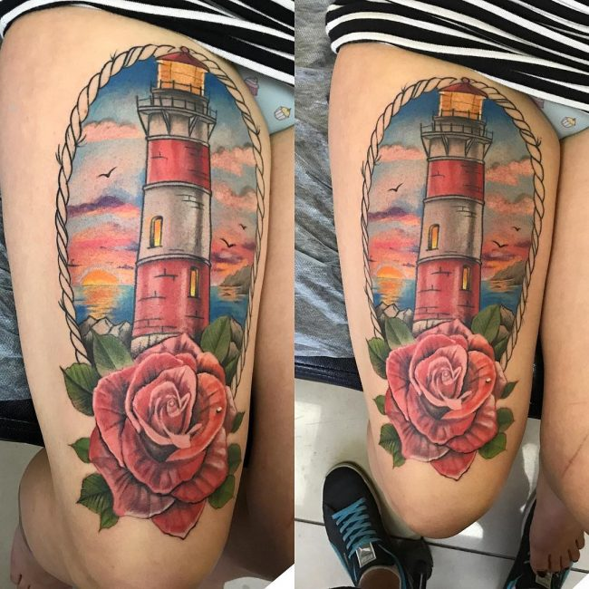 Lighthouse Tattoo 125
