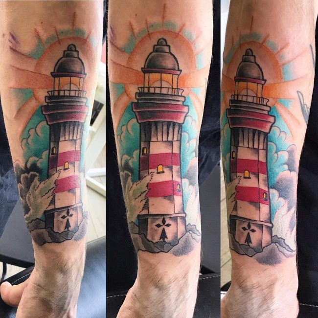 Lighthouse Tattoo 128