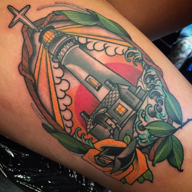 Lighthouse Tattoo 129