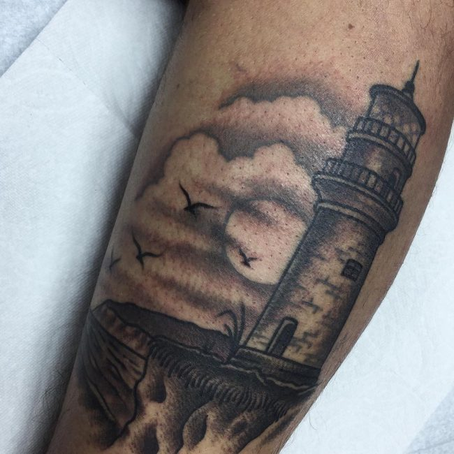 Lighthouse Tattoo 19