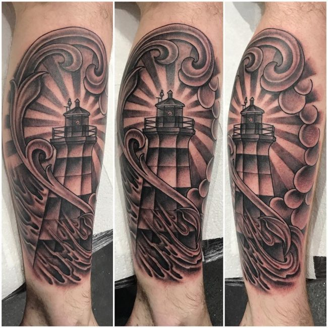 Lighthouse Tattoo 22