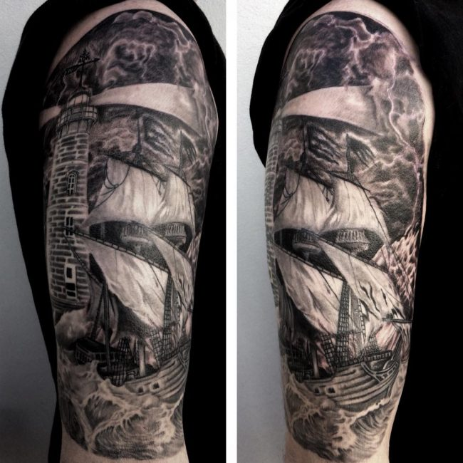 Lighthouse Tattoo 23