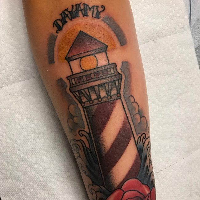 Lighthouse Tattoo 3