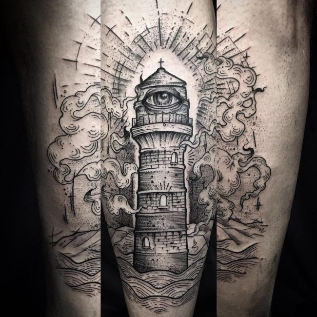 Lighthouse Tattoo 30