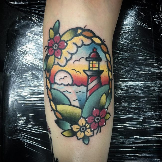 Lighthouse Tattoo 32