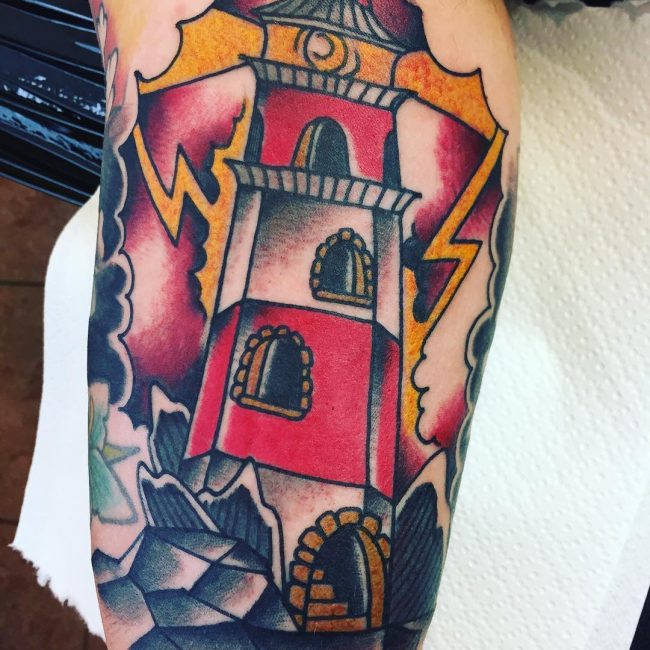 9b5508d1ca56a 130 Best Lighthouse Tattoos - Keep Making Your Way[2019]