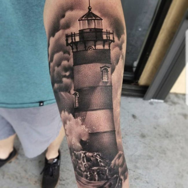 Lighthouse Tattoo 42