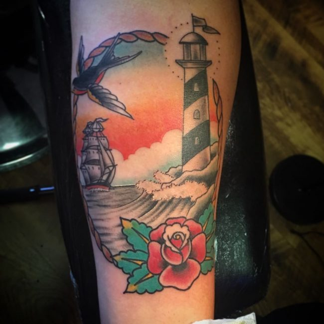 Lighthouse Tattoo 44