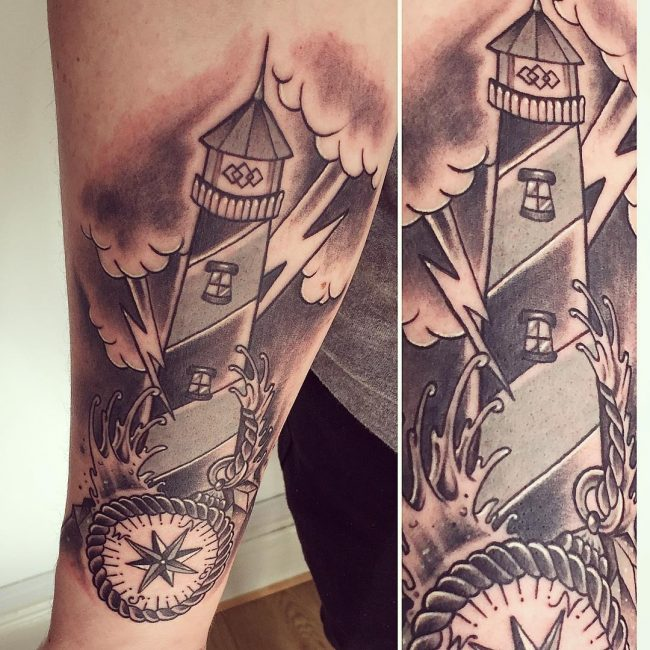 Lighthouse Tattoo 46