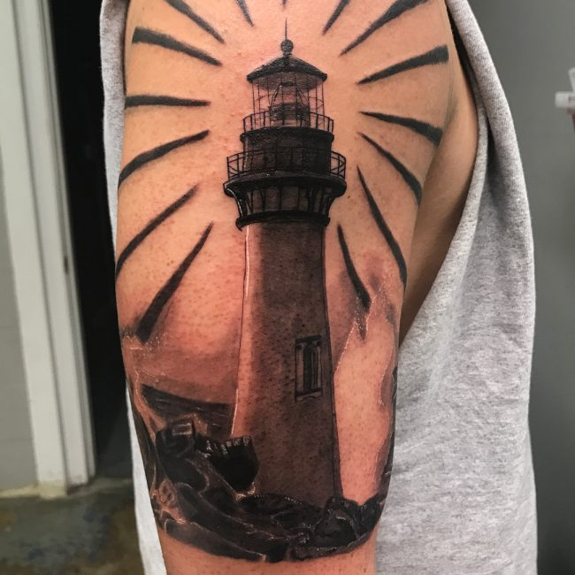 Lighthouse Tattoo 47