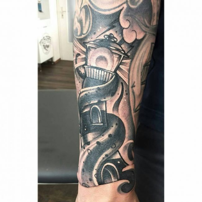 Lighthouse Tattoo 48