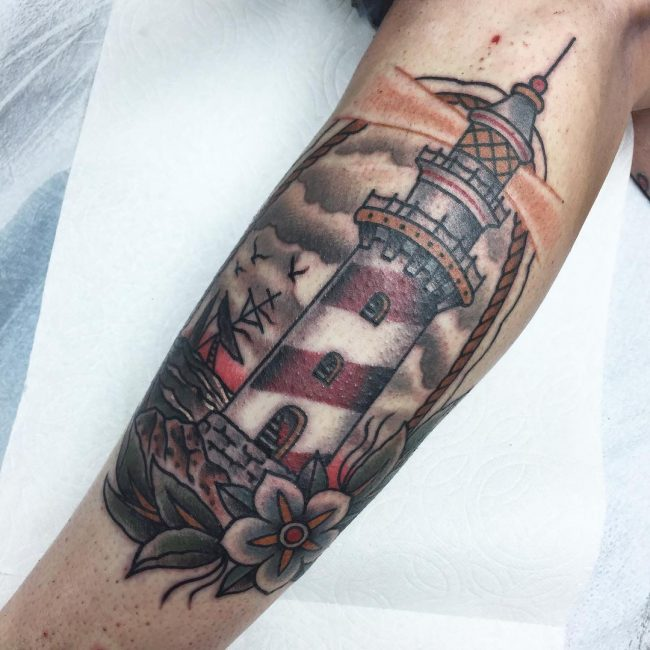 Lighthouse Tattoo 57