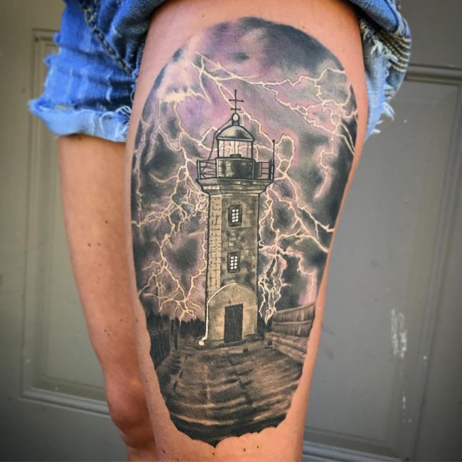 Lighthouse Tattoo 58