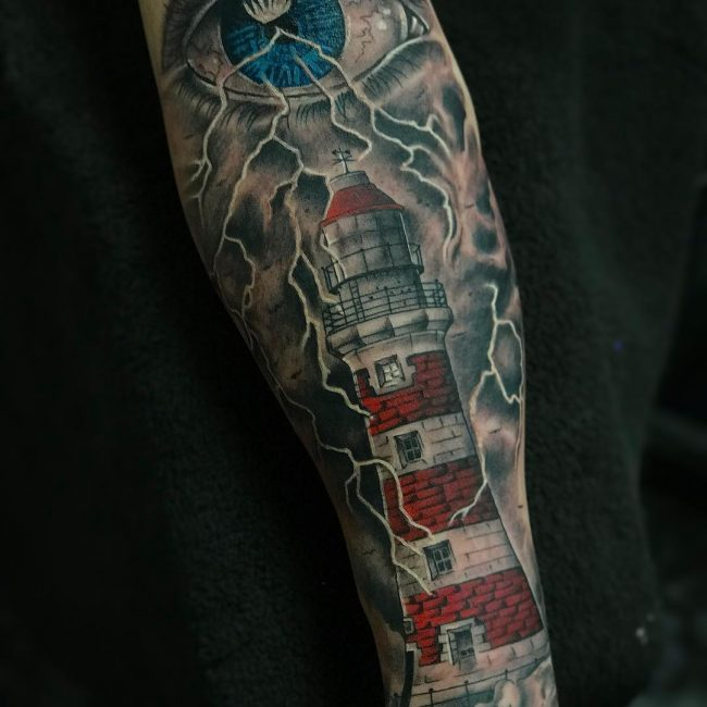 fc6f6f4d0 130 Best Lighthouse Tattoos - Keep Making Your Way[2019]