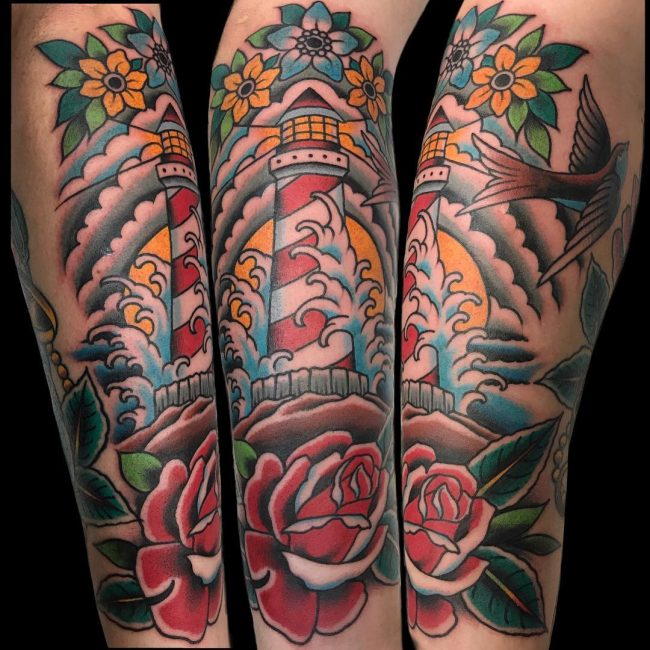 Lighthouse Tattoo 76