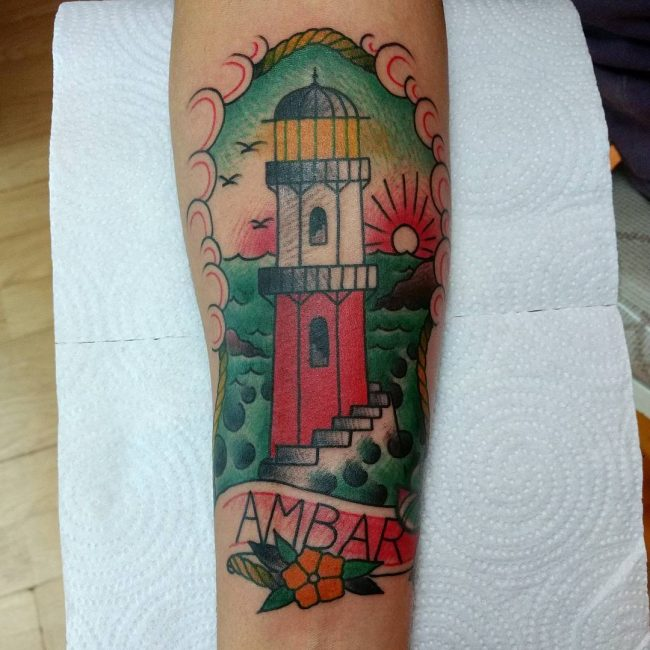 Lighthouse Tattoo 82