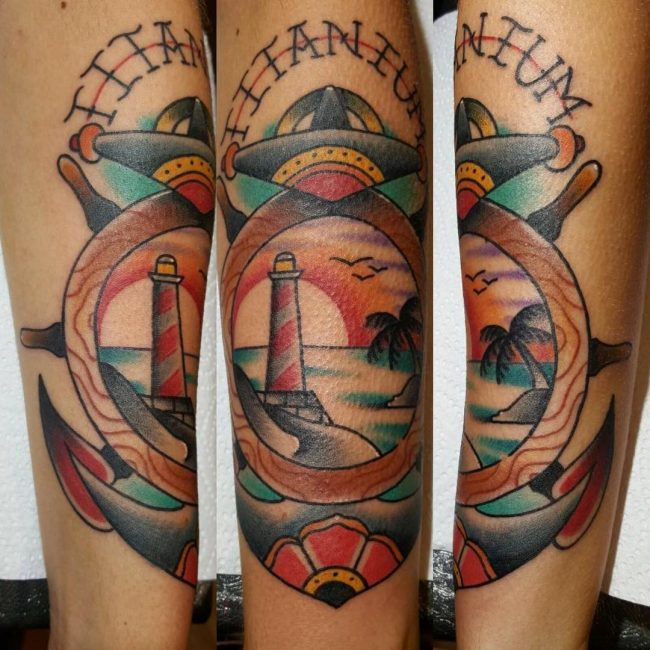 Lighthouse Tattoo 86