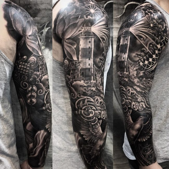 Lighthouse Tattoo 87