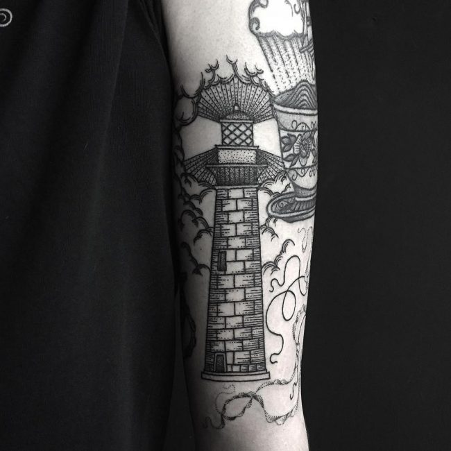 Lighthouse Tattoo 90