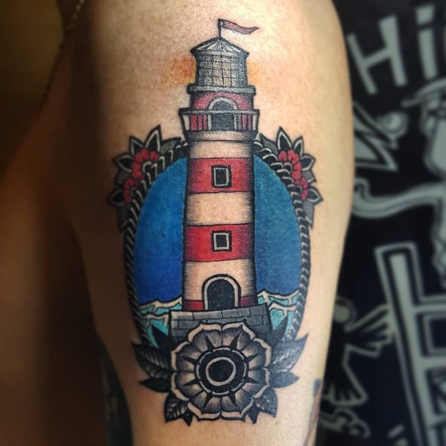 Lighthouse Tattoo 93