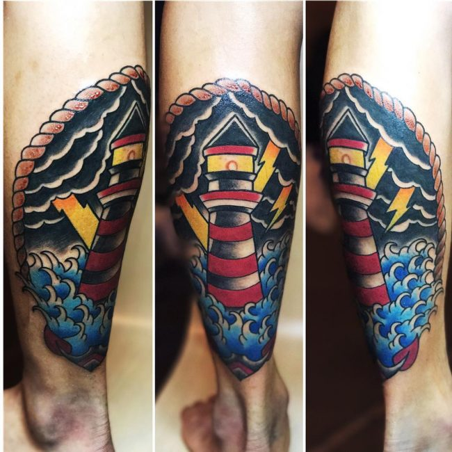 Lighthouse Tattoo 95
