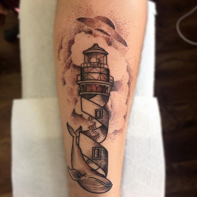 Lighthouse Tattoo 96
