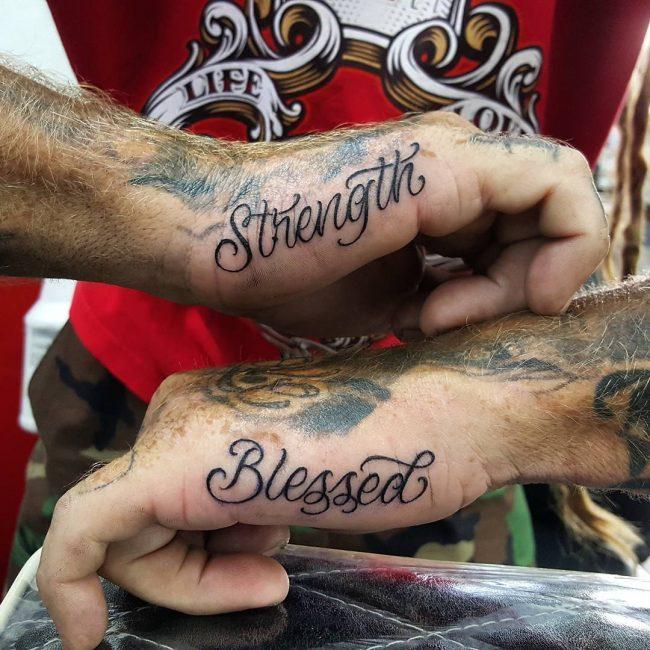 Script Tattoo 100